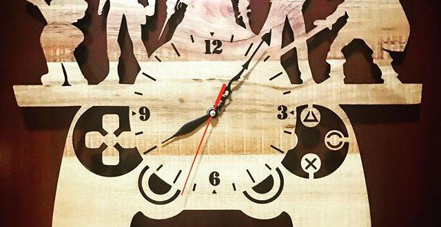 Cnc Cut Vector Gamepad Wall Clock Dxf