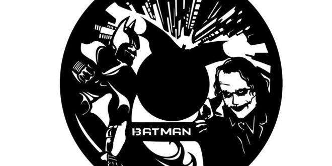 Vector Cnc Clock vinyl watches batman and joker
