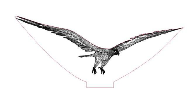 3D Illusion Laser Acrylic Eagle Design