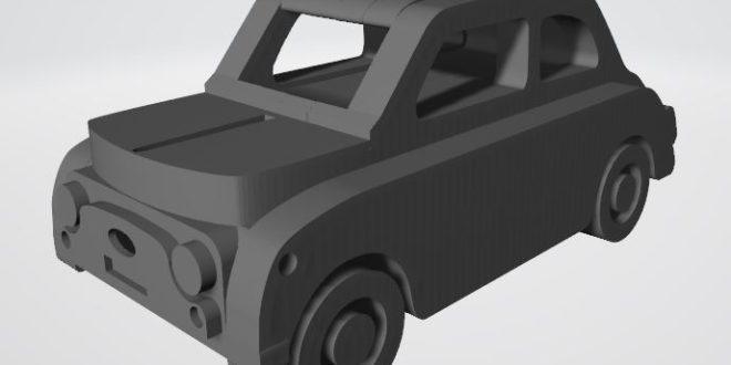 Free Download Laser Cut Vector Fiat Nuova 500 Car