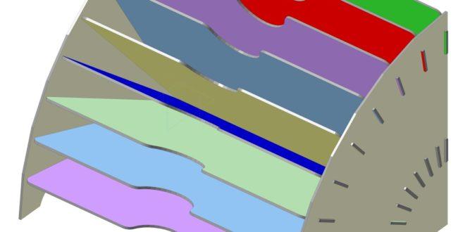 Folder organizer project to cut cnc mdf acrylic