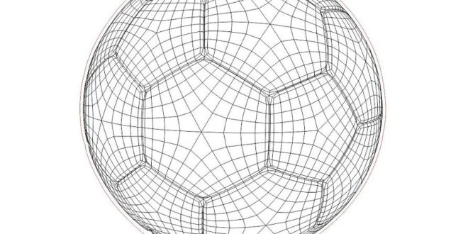 Laser Cut Football Ball 3D Illusion Vector Dxf