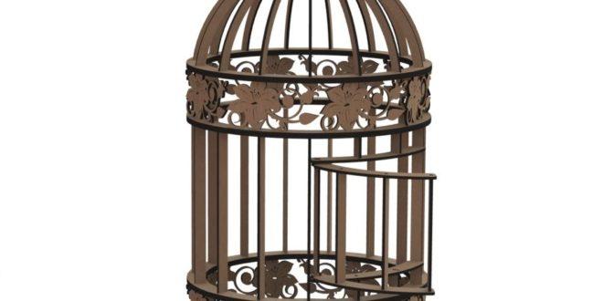 Laser Cut Bird Cage Decoration