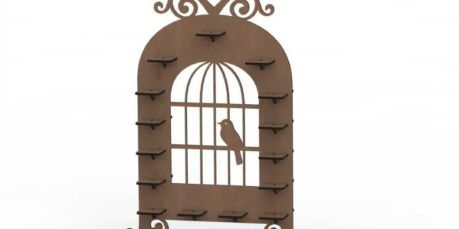 Laser Cut Stand Cage Candy Decor 3mm + 6mm
