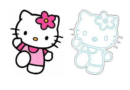Free Laser Cut and Engraving Hello Kitty Cartoon