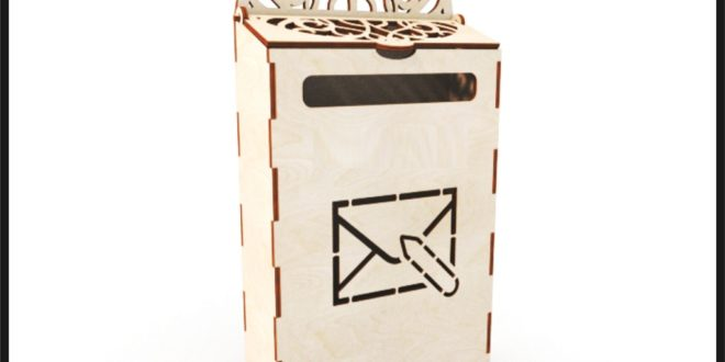 Laser Cut Template File Mailbox 4mm dxf