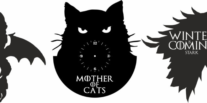 3 Clocks File Cnc Laser Cutter Mother of cats