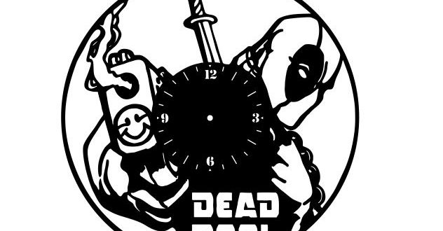 Free Vector Dead Pool Wall Clock Cnc