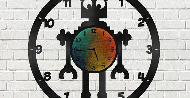 Free File to Cut Cnc Robot Clock Wall Decor