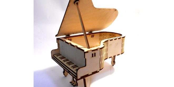 Laser Cut Miniature Royal Piano Music dxf cdr template files