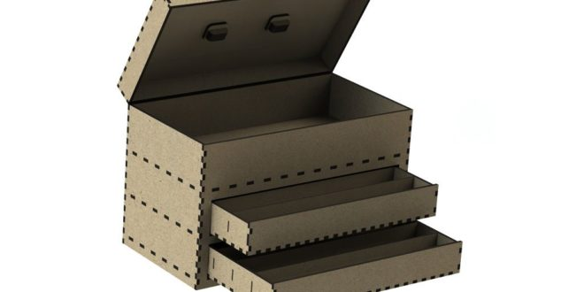 Laser Cut Tool Box DXF CDR 6mm + 3mm plates
