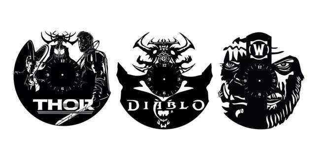 Thor Diablo Laser Cut File Wall Clock