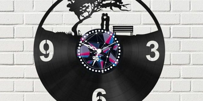 Template Laser Cut Wall Clock love under the tree