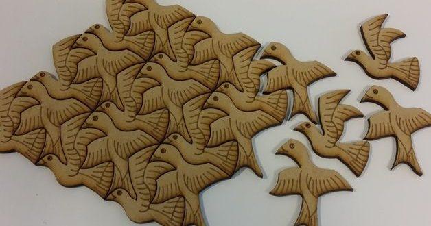 Free Laser Cut Engraving Puzzle Birds