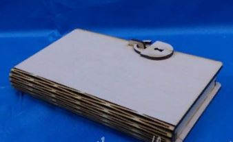 4mm book cover free layout file cnc