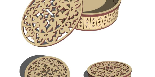 Laser Cut Round box Ø200mm plate thickness 3 or 4mm