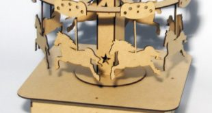 Laser Cut CDR DXF Carousel Horses Toy Decor