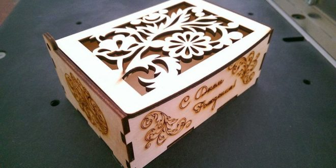 Free cnc file cut box with flowers