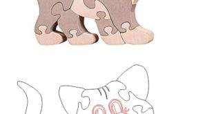 Kitten Cat Puzzle Toy Kids Cnc Vector Cut
