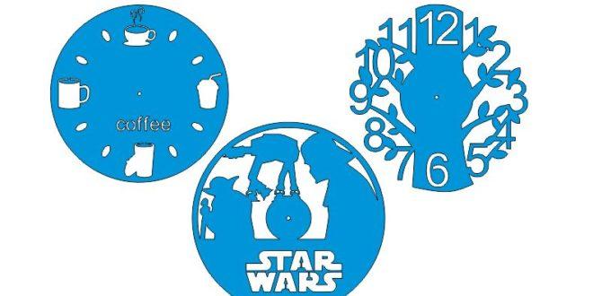 Free Laser Cut Clock Designs Star Wars Tree Coffee