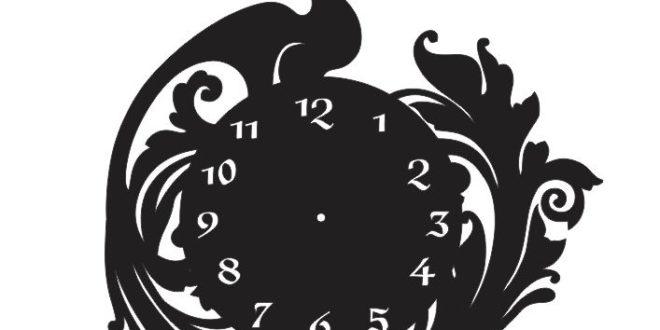 Cnc Cut Vector File Clock Peacock