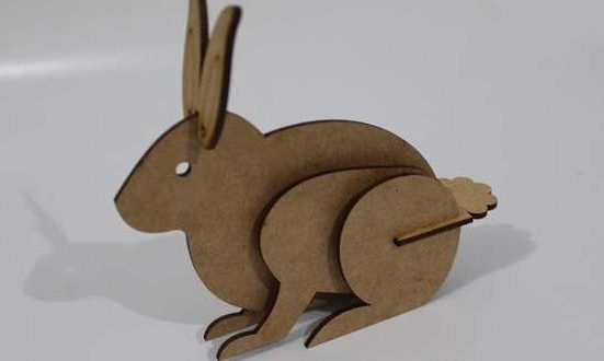 Free Laser Cut Template File Download Bunny Rabbit