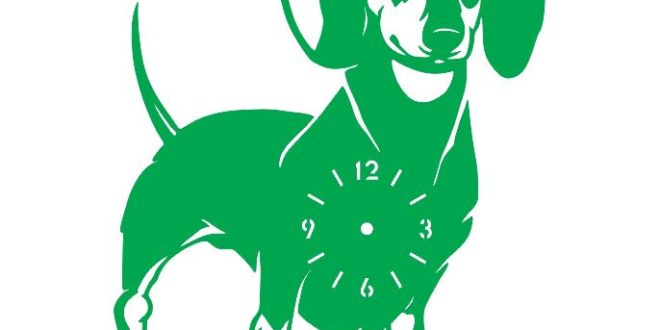 Dog Wall Clock Vector Cnc Cut