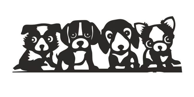 Free Dogs Cnc Vector File Silhouette