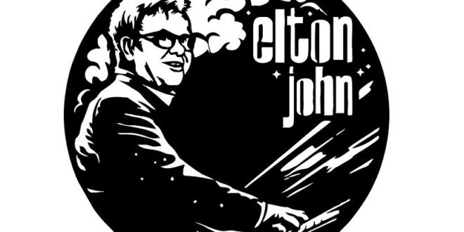 Cnc Template File Elton John Vinyl Wall Clock