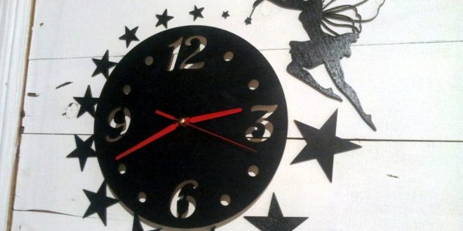 Free Cnc Vector fairy watch wall clock decor