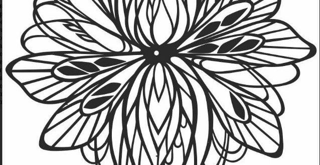 Floral Artline Clock Laser Cutter File vector