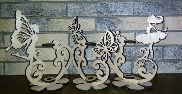 Free download laser cut flower stand file