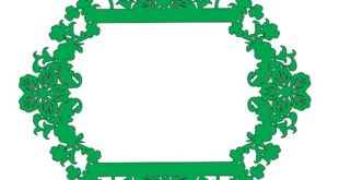 Free Laser Cut Frame DXF Floral Leafs 4