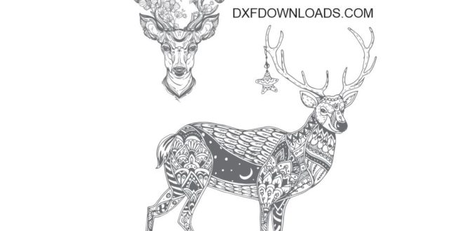 Free Deer Cdr file engraving file - DXF DOWNLOADS - Files ...