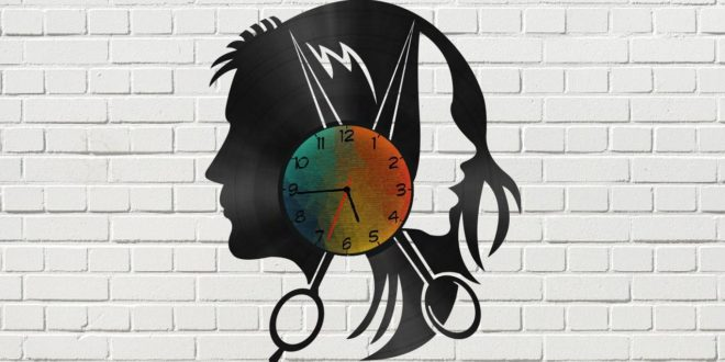 Template Cut Cnc Free Hairdresser Wall Clock