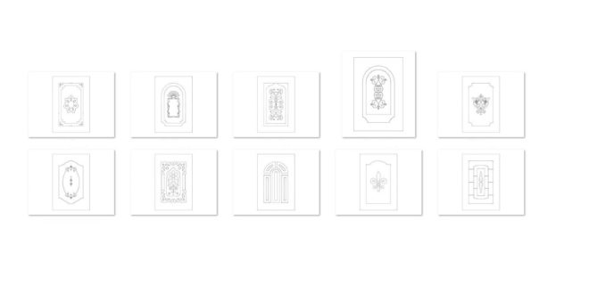 Free Pack Door Vectors DXF Cnc Cut Home Funiture
