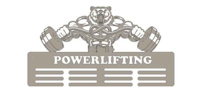 Free Laser Vector File Powerlifting Bodybuilding Medal Stand