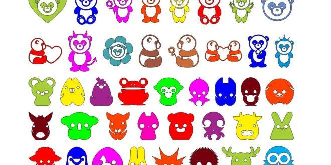 Pack Laser Cut Vectors Kids Animals Cartoon