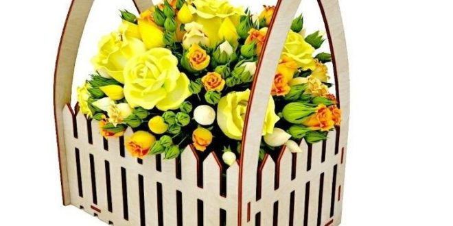 Free Cnc Cut Basket for Flowers File Download