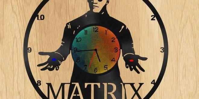 Free matrix cnc cut laser vector clock