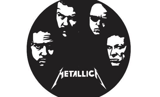 Free Laser Cut Metallica Wall Clock