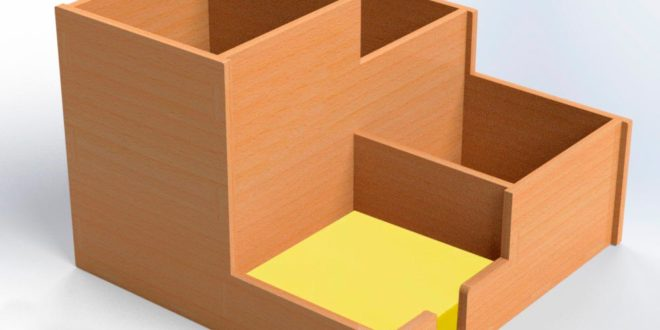 Laser Cut Office Mini Organizer cdr dxf files download