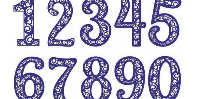 Laser Cut ArtLine Numbers Alphabet Wall