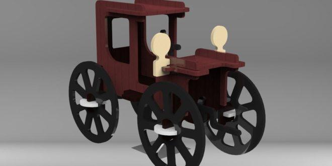 Free Classic Car 3D Vehicle Puzzle Laser Cut