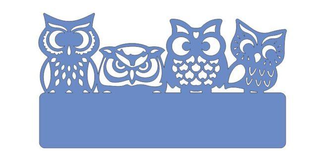 Owls dxf 2d vectors silhouette