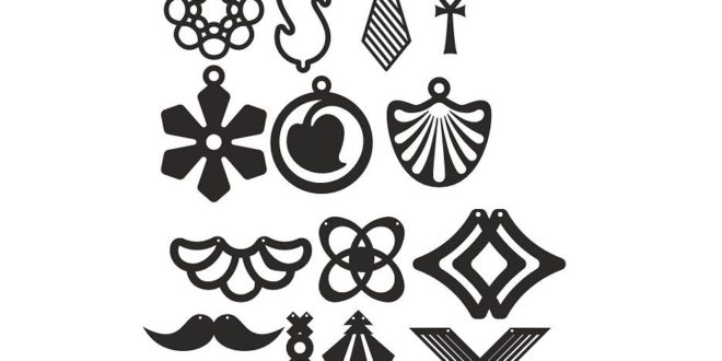 Free Pack Jewelry Earrings Laser Cut Files DXF