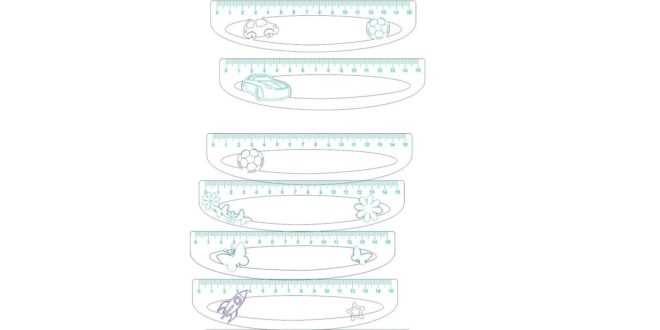 Laser Cut and Engraving Pack School Rulers For Kids 15cm