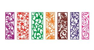 Free Cnc Pack Files 7 Panels Grid Room Divider Ornaments Plaque