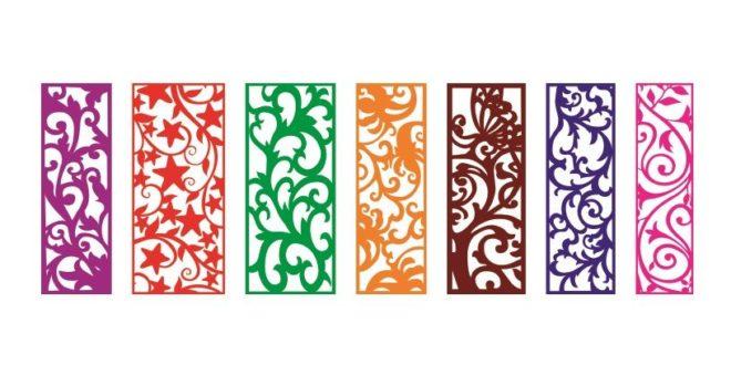 Free Cnc Pack Files 7 Panels Grid Room Divider Ornaments Plaque