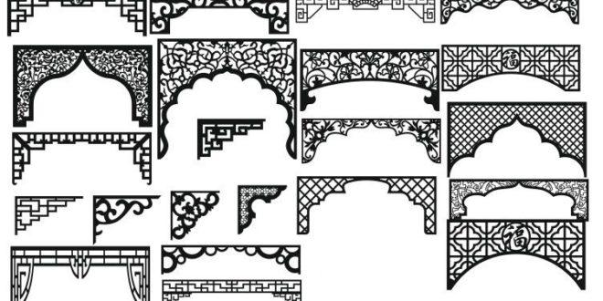 Pack Vectors Cnc Cut Decor Curtains DXF